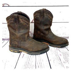 ARIAT | Leather WorkHog Waterproof Cowboy Boots